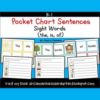 Pocket Chart Sentences Sight Word (of)