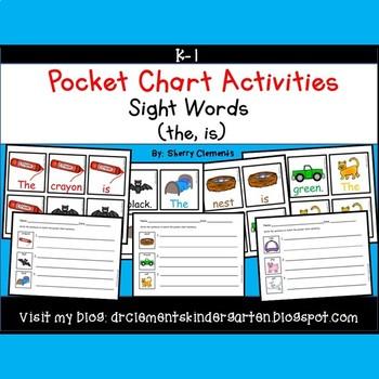 Pocket Chart Sentences Sight Word (the)