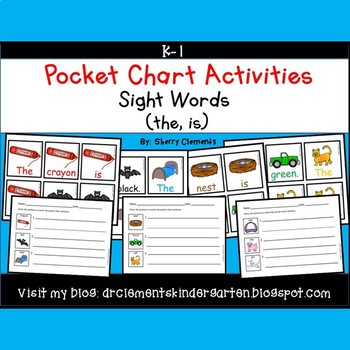 Pocket Chart Sentences Sight Word (the)