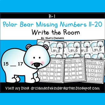 Polar Bear Write the Room (Missing Numbers 11-20)
