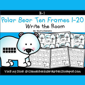 Polar Bear Write the Room (Ten Frames 1-20)