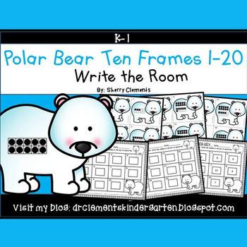 Polar Bear Write the Room (Ten Frames 1-20)