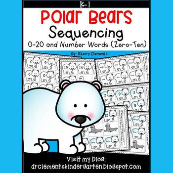 Polar Bears Sequencing 0-20 and Number Words (zero-ten)