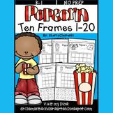 Popcorn Ten Frames 1-20 (Cut and Paste)