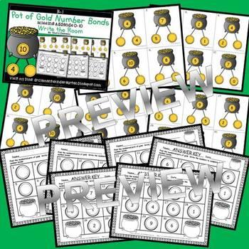 Pot of Gold Write the Room (Number Bonds Missing Addends 0-10)