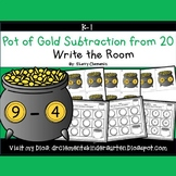 Pot of Gold Write the Room (Subtraction from 20)
