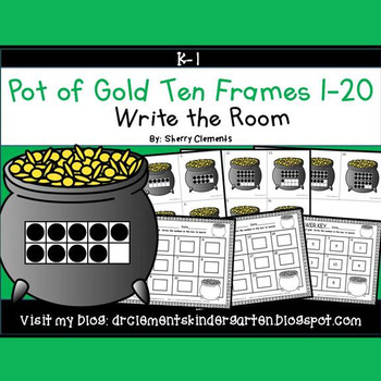 Pot of Gold Write the Room (Ten Frames 1-20) March