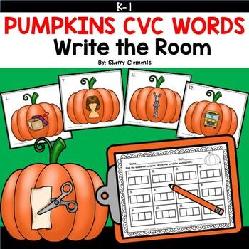 Pumpkins Write the Room (CVC Words)