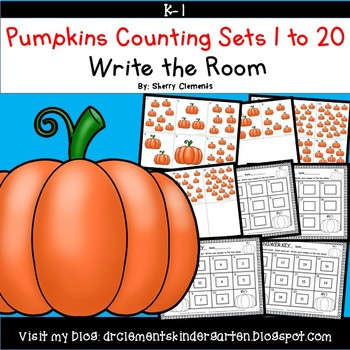 Pumpkins Write the Room (Counting Sets 1-20)