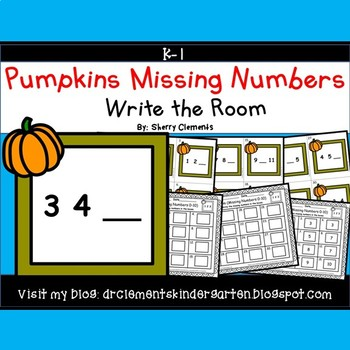 Pumpkins Frame Write the Room (Missing Numbers 0-10)