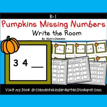 Pumpkins Frame Write the Room (Missing Numbers 0-10)