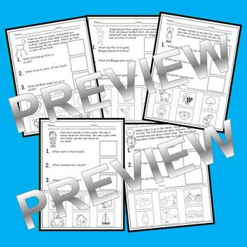 Reading Comprehension Answering with Pictures (Cut and Paste) (Set 2)
