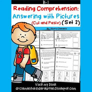 Reading Comprehension Answering with Pictures (Cut and Paste)