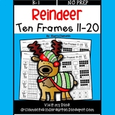 Reindeer Ten Frames 11-20 (Fill in Ten Frames and Cut and Paste)
