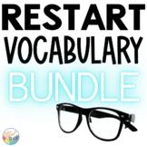 RESTART Novel Study VOCABULARY Bundle: for read aloud   bo