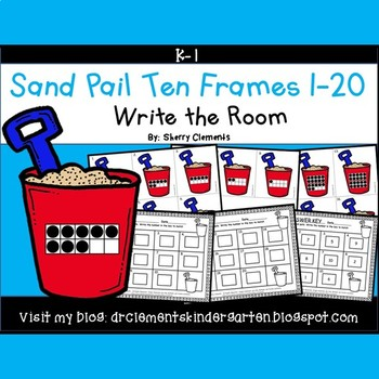 Sand Pail Write the Room (Ten Frames 1-20)