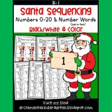 Santa Number Sequencing 0-20 and Number Words
