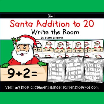 Santa Write the Room Addition to 20