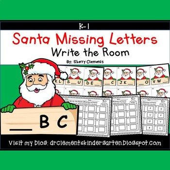 Santa Write the Room Missing Letters