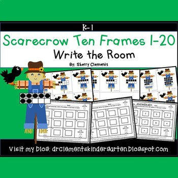 Scarecrow Write the Room (Ten Frames 1-20)