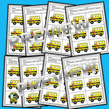 School Bus Sequencing 0-100 (black/white and color sets)