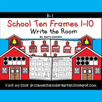 School Write the Room (Ten Frames 1-10)