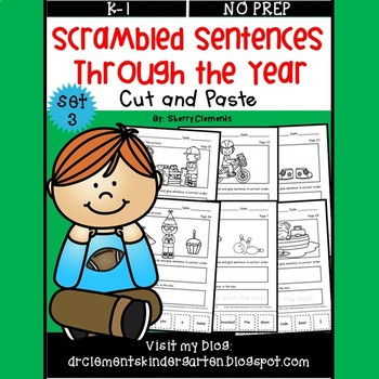 Scrambled Sentences Through the Year Set 3 (Cut and Paste)