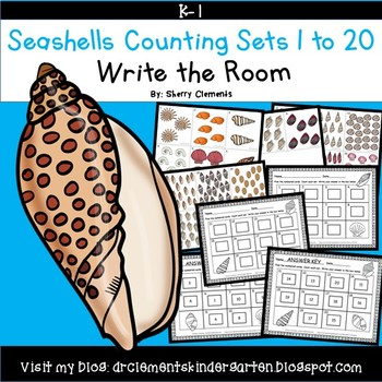 Seashells Counting Sets 1-20 Write the Room