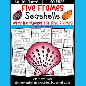 Seashells Five Frames