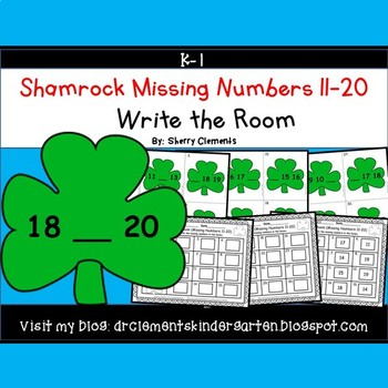 Shamrocks Write the Room (Missing Numbers 11-20)