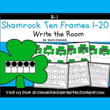 Shamrocks Write the Room (Ten Frames 1-20)