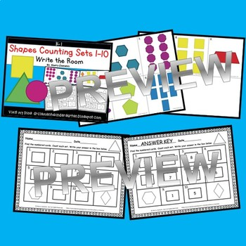 Shapes Write the Room (Counting Sets 1-10)
