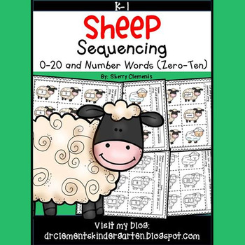 Sheep Sequencing 0-20 and Number Words (zero-ten)