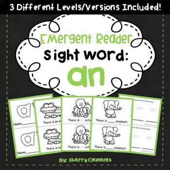 Sight Word Fluency Reader AN