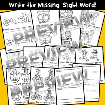 Sight Word Fluency Reader EACH