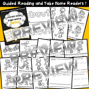 Sight Word Fluency Reader ABOUT