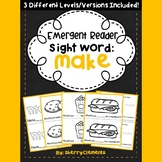 Sight Word Fluency Reader MAKE