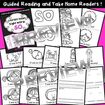 Sight Word Fluency Reader SO