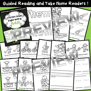 Sight Word Fluency Reader THEM