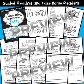 Sight Word Fluency Reader THEN