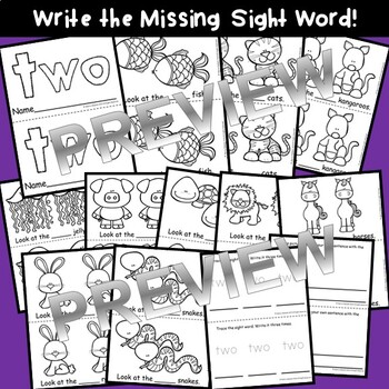 Sight Word Fluency Reader TWO