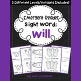 Sight Word Fluency Reader WILL