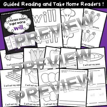 Sight Word Fluency Reader WILL