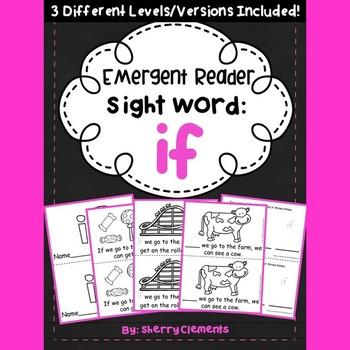 Sight Word Fluency Reader IF