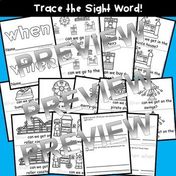 Sight Word Reader WHEN