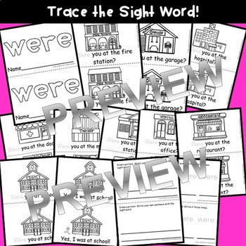 Sight Word Fluency Reader WERE