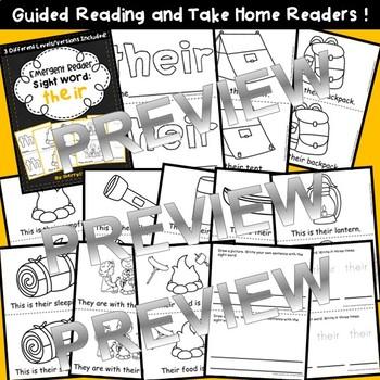 Sight Word Fluency Reader THEIR