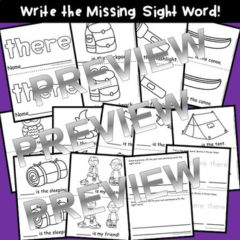Sight Word Fluency Reader THERE