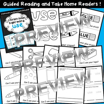 Sight Word Fluency Reader USE