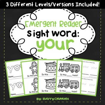 Sight Word Fluency Reader YOUR